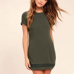 Lulu's Dresses - Olive Green Dress